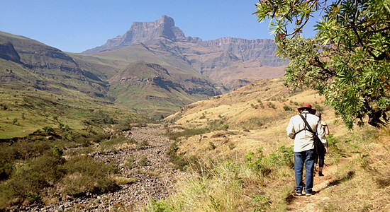 Hiking Thendele Camp Amphitheatre Royal Natal Park uKahlamba Drakensberg Park Self-Catering Family Accommodation South Africa