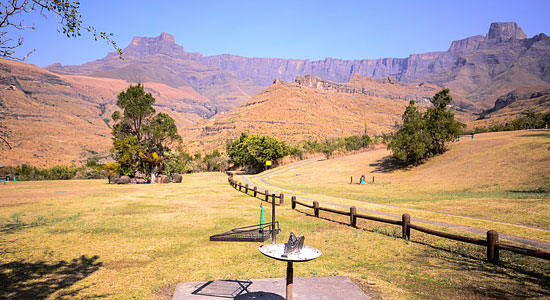 e Amphitheatre Thendele Camp Self-Catering Drakensberg Accommodation Lower Camp Royal Natal Park South Africa
