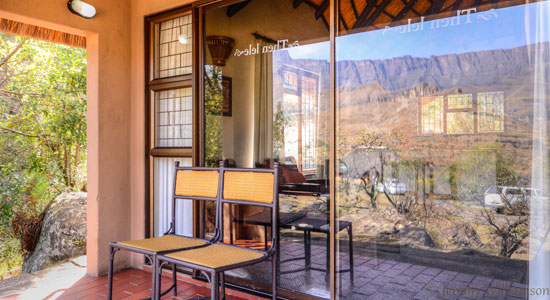 Thendele Camp 2 bed Chalet Patio Self-Catering Drakensberg Accommodation Upper Camp Royal Natal Park